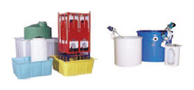 Polyethylene- molded tanks of different configurations for chemicals