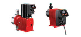 Solenoid-driven diaphragm dosing pumps