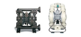 Thermoplastic or metallic pneumatic double diaphragm air pumps (AOD), ¼  in. to 3 in. (1 USGPM to 230 USGPM)