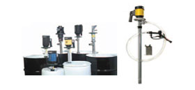 PVC, PVDF or SS316 electrical and pneumatic drum pumps